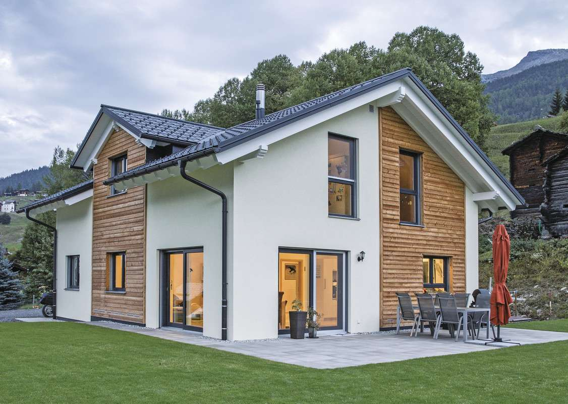 Architektenh user aus holz for Modernes haus mit holzfenster